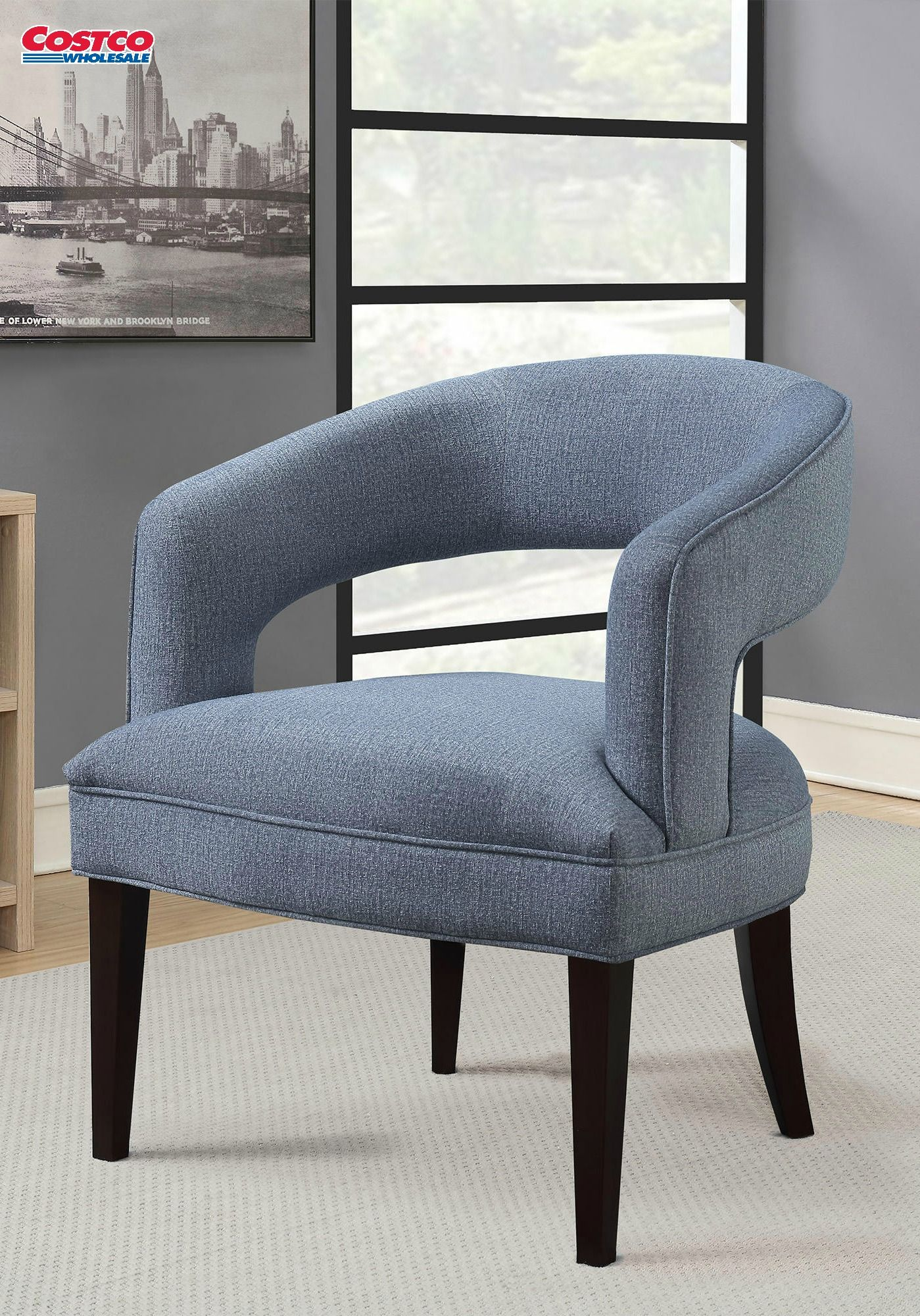 The Design Of The Hans Fabric Accent Chair Adds Style And