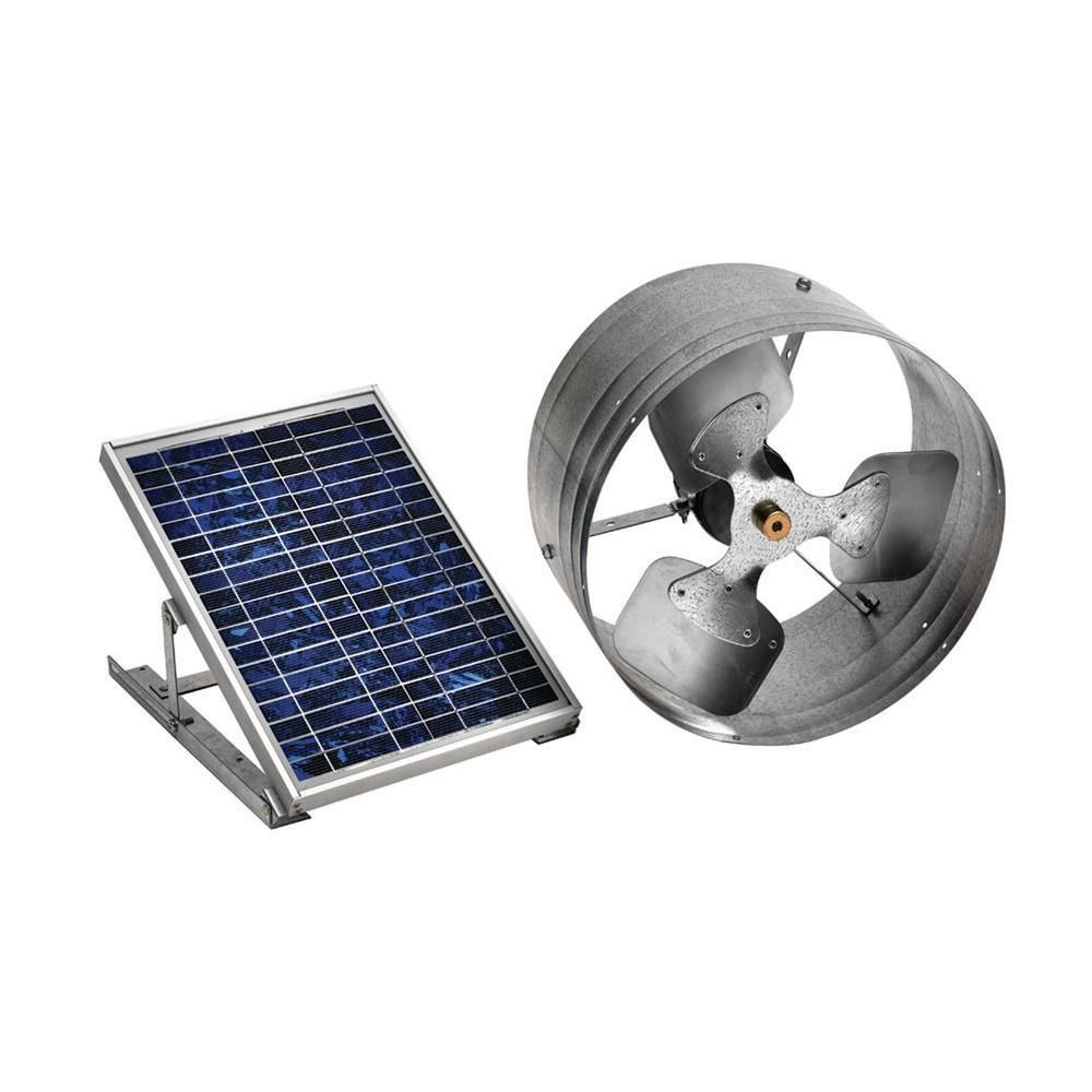 Master Flow 500 Cfm Silver Solar Powered Gable Mount Solar Attic Fan Pgsolar The Home Depot Solar Energy Panels Solar Attic Fan Solar Fan