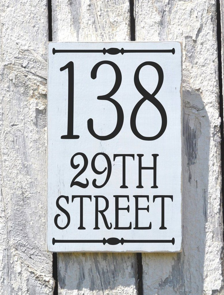 Address Plaque Outdoor House Numbers Sign Vertical | PORCH ...