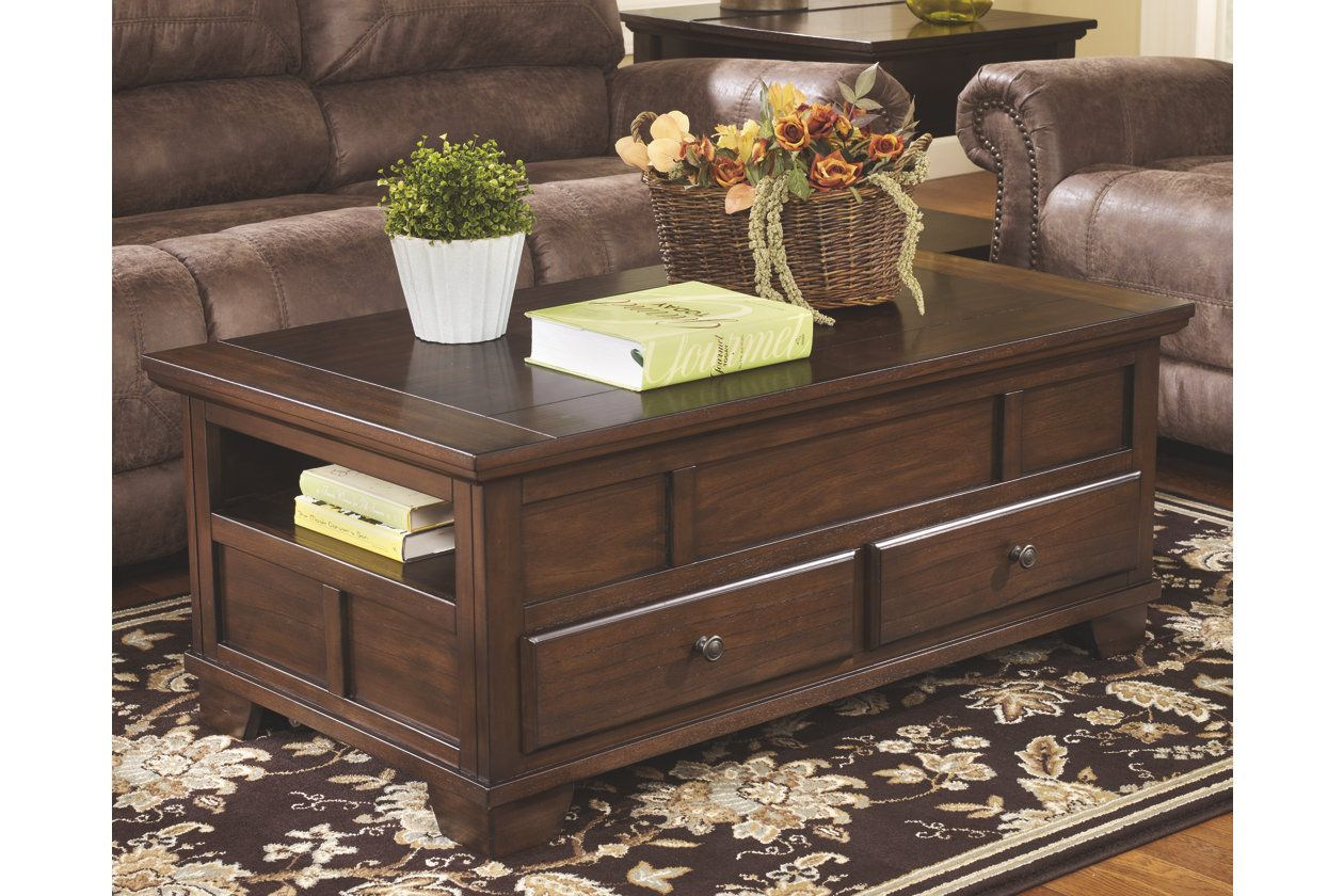 Gately Coffee Table With Lift Top Ashley Furniture Homestore Furniture Home Decor Lift Top Coffee Table