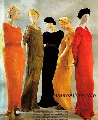 Couture Allure Vintage Fashion The Fashions Of Fortuny Fortuny Dress Vintage Fashion Fortuny