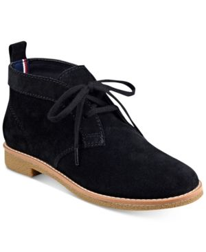 90460aa3c505 Tommy Hilfiger Blaze Lace-Up Oxford Booties - Black 8.5M