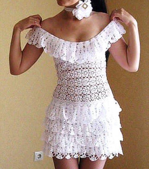 Cibele, одежда и крючком аксессуары ...: Платья крючком модели ...
