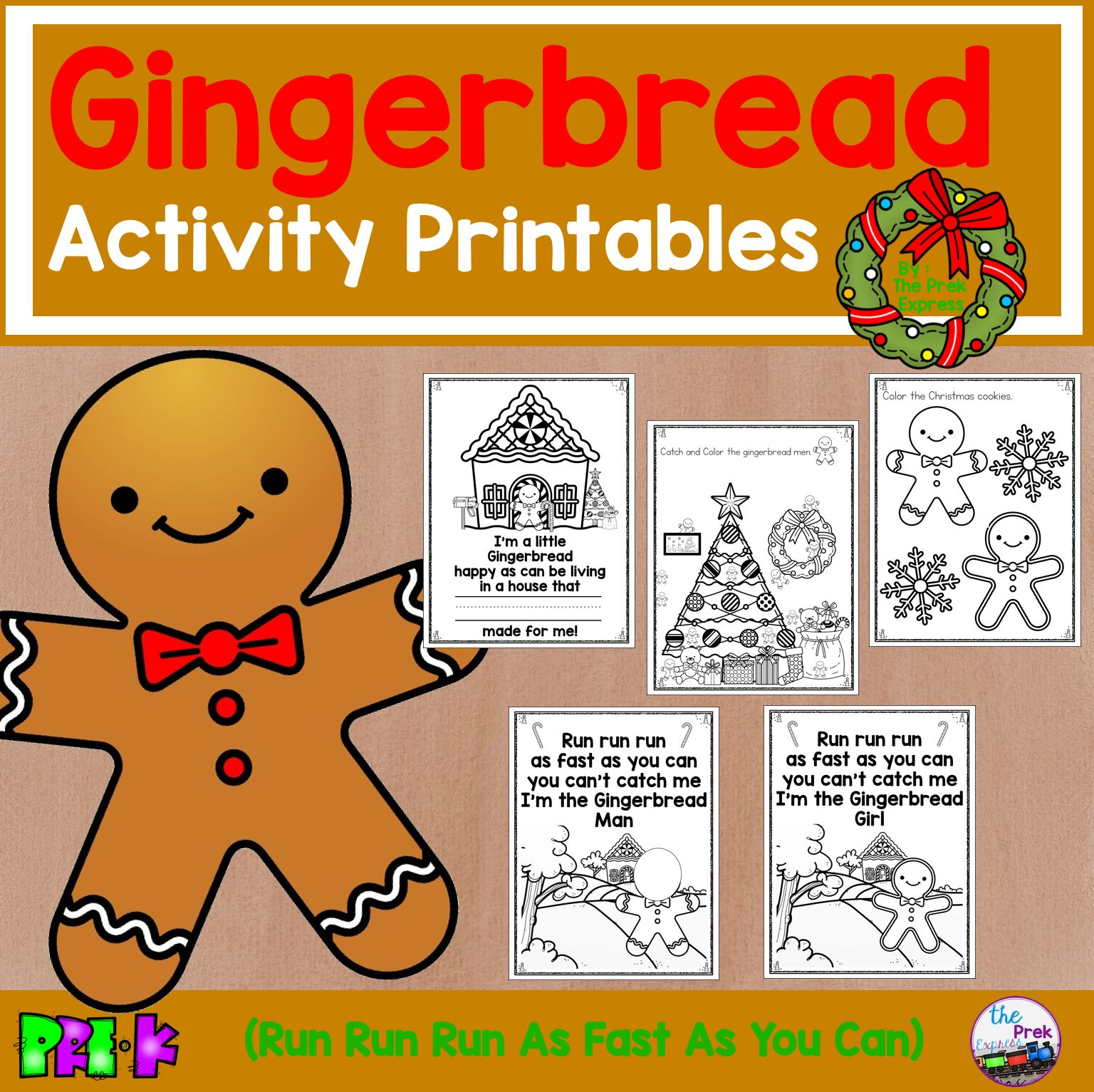 Gingerbread Activity Printables In