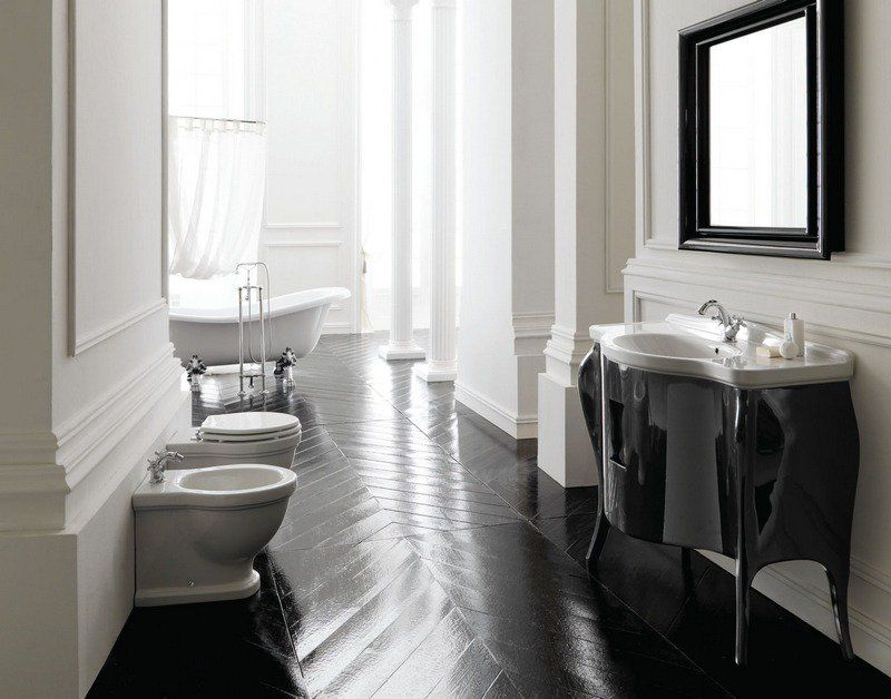 Salle de bain rétro - carrelage, meubles et déco en 55 photos!