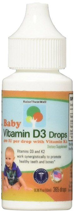Baby Vitamin D And K Drops For Ultimate Bone And Teeth Health Controlled Dropper Tip For Precise 1 Drop Dosing 4 Baby Vitamins Vitamin D3 Drops Teeth Health