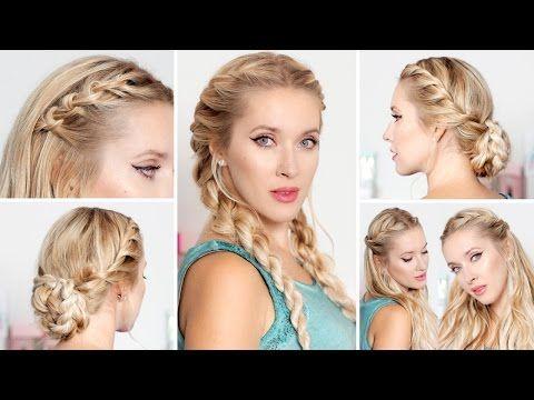 Cute easy hairstyles for school, medium long hair ★ Frisuren für lange haare - YouTube
