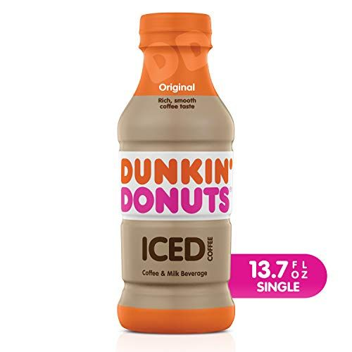 Dunkin' Donuts Original Iced Coffee Bottle, 13.7 Fl Oz In