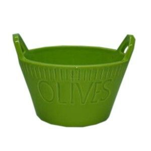"""BRIGHT OLIVE BOWL 5""""TWO LIME"""
