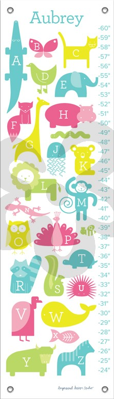 Abc Animalia  Pinks Alphabet  Numbers Growth Charts  Oopsy