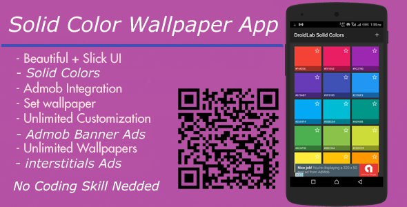 Solid Colors Wallpaper App + Admob interstitial And Banner Ads ...
