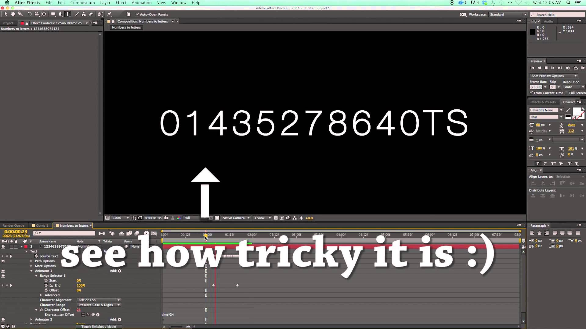 After Effects - Random Letter Reveal Tutorial