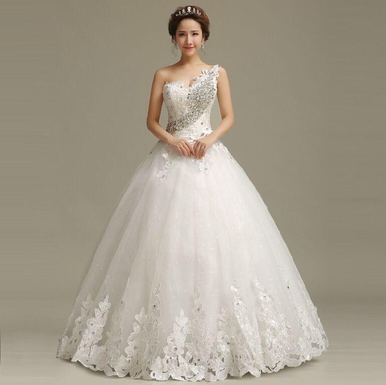 60415ddddb Cheap 2015 nueva moda coreana delgado hombro piso longitud con cuentas  vestido de boda correas Bra