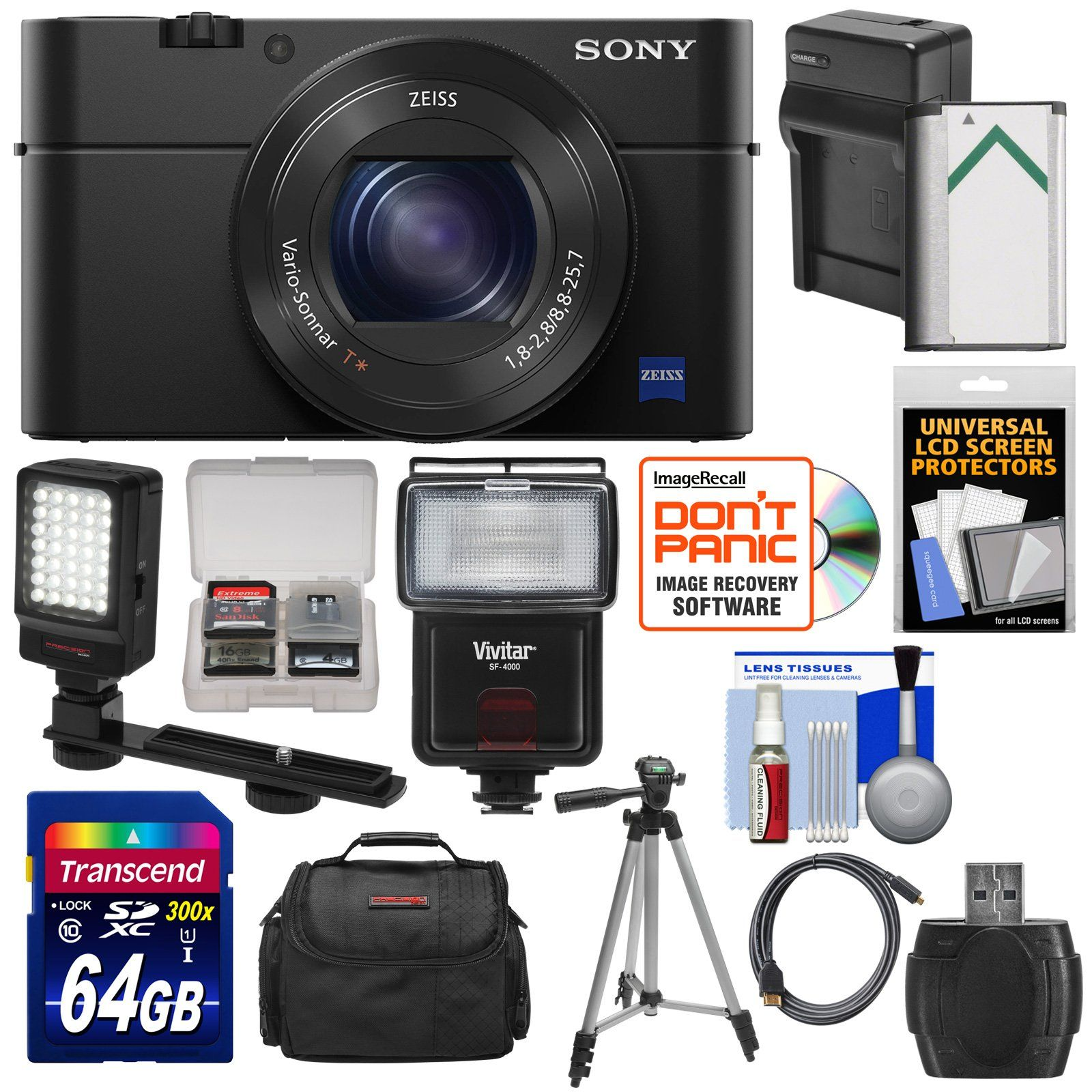 Sony Cyber Shot Dsc Rx100 Iv 4k Wi Fi Digital Camera With 64gb Card Compact M4