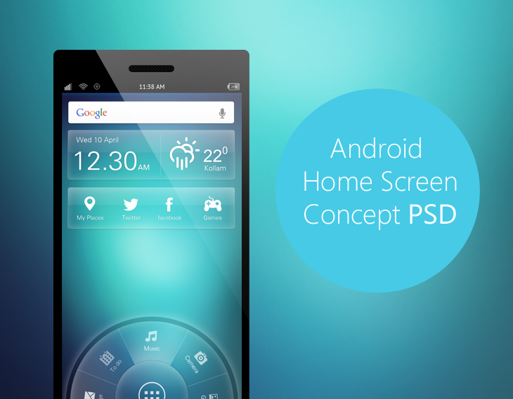 Android Home Screen Concept | Free PSD | Pinterest | Mobile ui, Ui ...