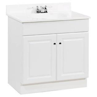 Richmond Bathroom Vanity With Top White 2 Doors 30x31x18 In
