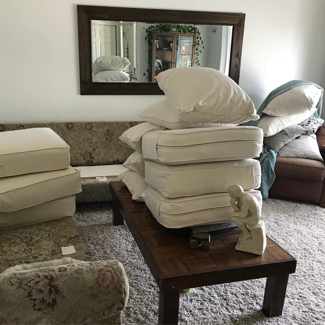 Slipcovers because that way your cream sectional is