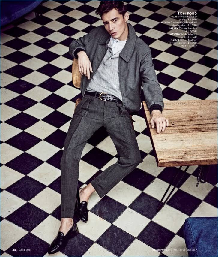 37a52689905 Neiman Marcus travels to Mexico City for the latest edition of its Man s  Store catalogue. The luxury retailer enlists top models Adrien Sahores and  Garrett ...