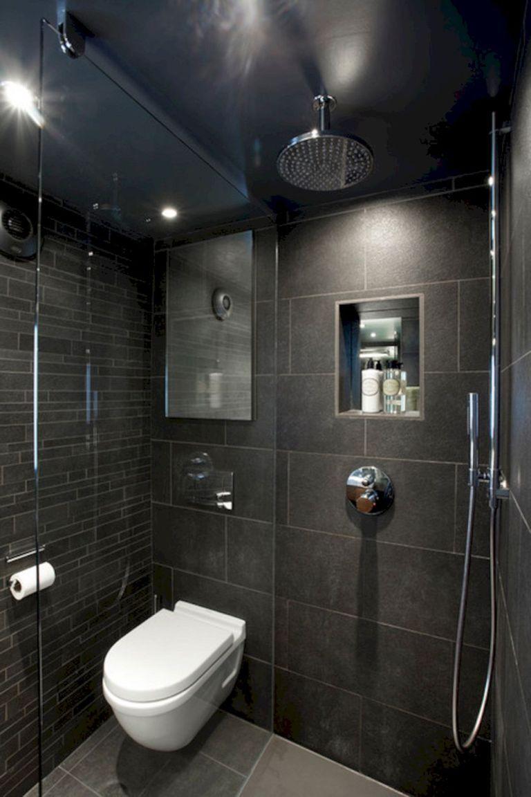 12 Incredible Black Bathroom Shower Ideas For Small Bathroom Kamar Mandi Kecil Shower Kamar Mandi Renovasi Kamar Mandi