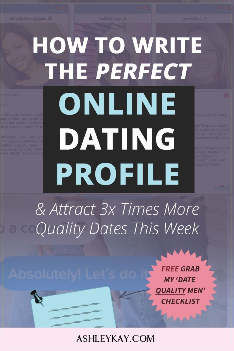 Writing the perfect online dating profile