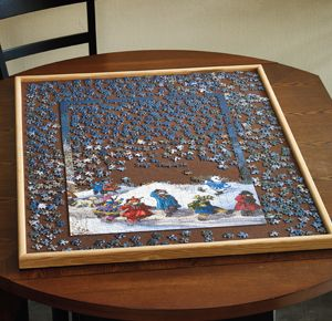 Wooden Jigsaw Puzzle Board Jigsaw Puzzles Puzzle Storage Puzzle Board