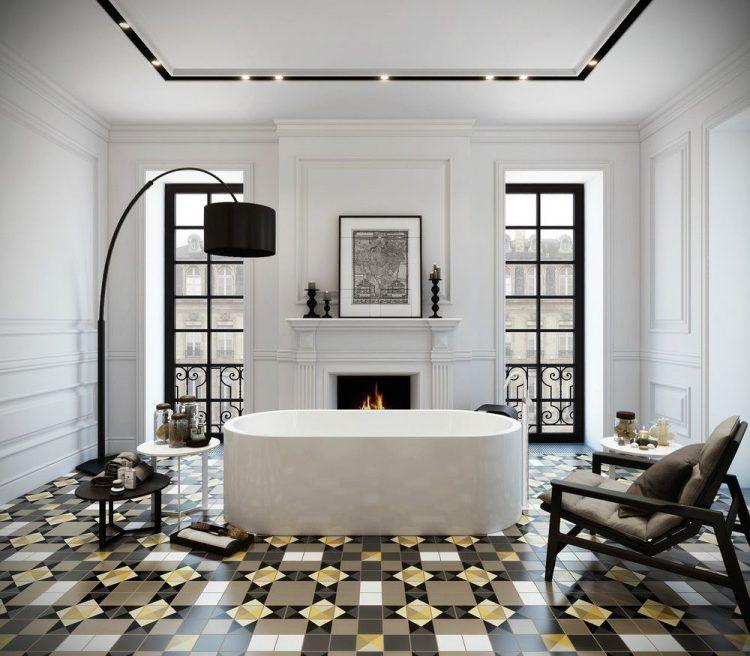 Gyönyörű padlóburkolat, modern világítás, letisztult vonalú szép ...