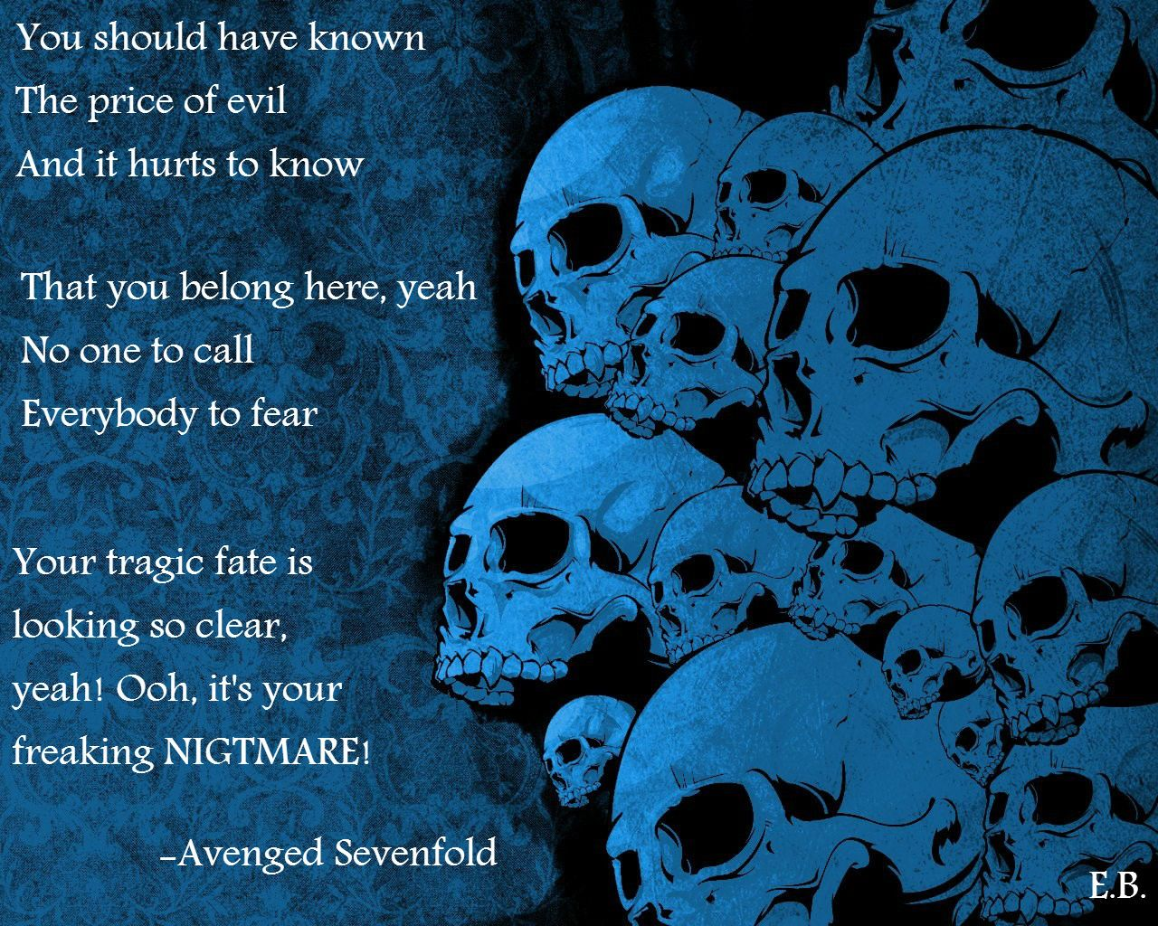 Chorus of the song nightmare by avenged sevenfold my edit i made chorus of the song nightmare by avenged sevenfold my edit i made this voltagebd Gallery