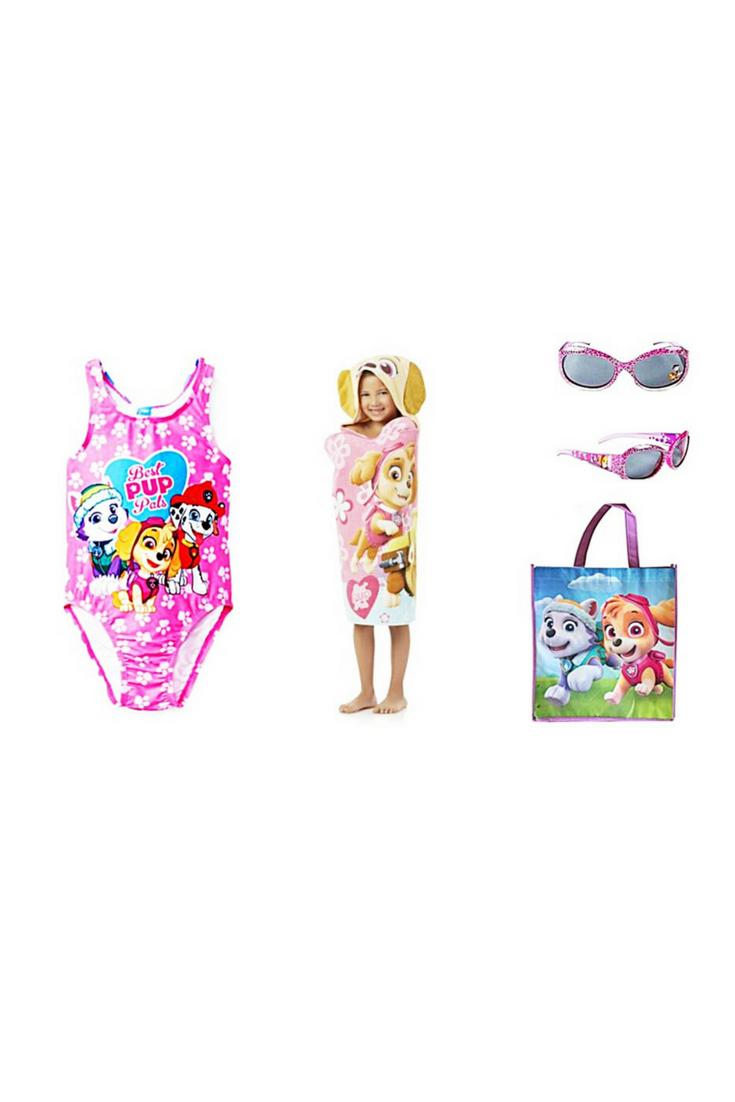 4de30a5de1 Paw Patrol SKYE Best Pup Pals Toddler Girls Swimsuit Sunglasses Tote Bag  PLUS Hooded Towel Size 3T 4T and 5T #PawPatrol