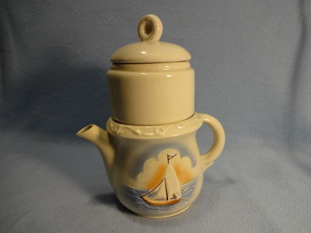 This Porcelier Vitreous China Drip O Lator Coffee Pot Has
