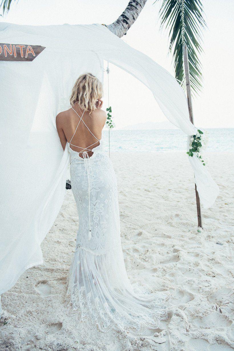 Spell designs bridal casablanca lace halter gown weddings