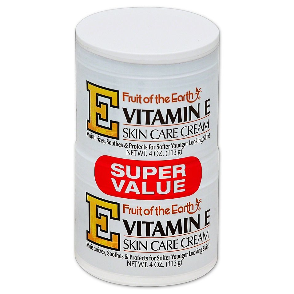 Fruit Of The Earth 2 Count 4 Oz Vitamin E Skin Care Cream Bed Bath Beyond Skin Care Cream Skin Care Remedies Skin Care