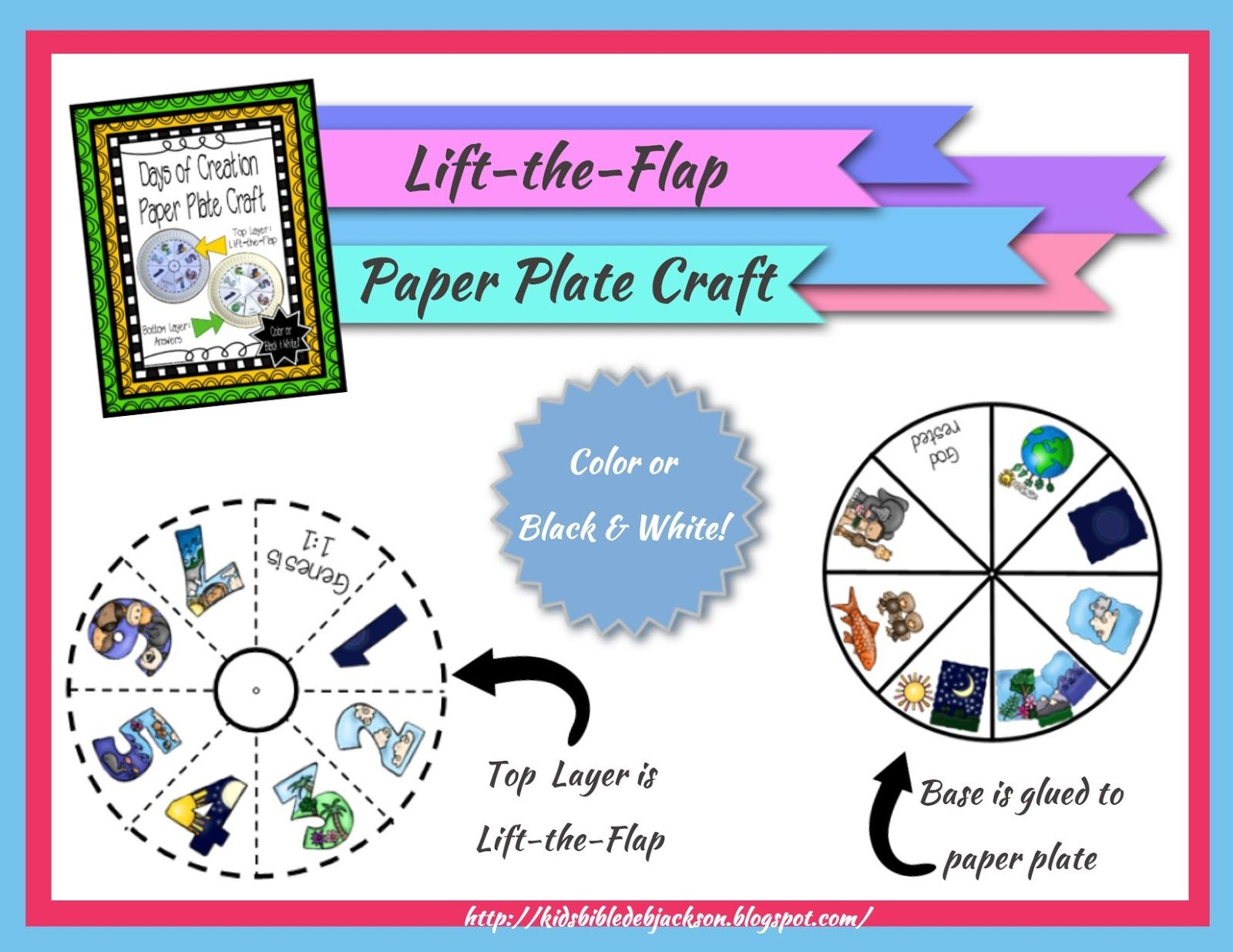 The creation story for kids stories for kids the creation and the creation for kids day 7 paper plate project printable in color black sciox Choice Image
