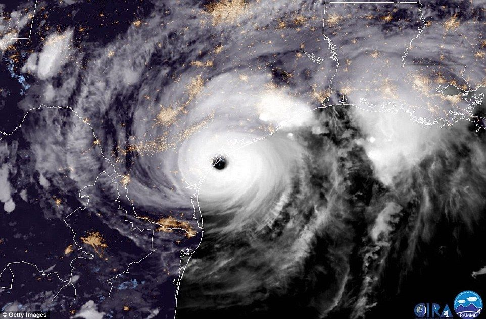 Harvey Hits Texas With 130mph Winds Hurricane Tropical Storm Harvey