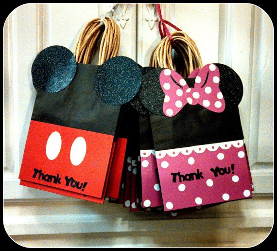 Mickey Mouse Minnie Goody Bags Candy Favor On Etsy 25 00