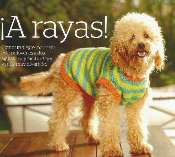 Patrón #608: Camisón para Perro a Dos Agujas #ctejidas http://blgs ...