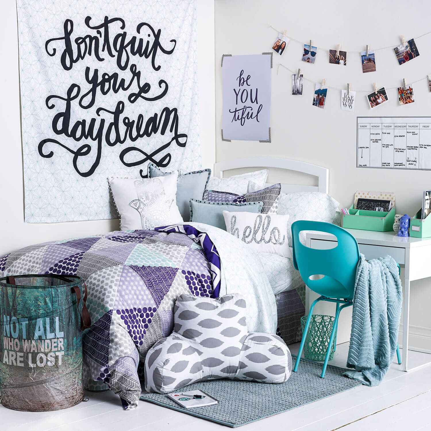 Colorful Dorm Room: Available On Dormify.com