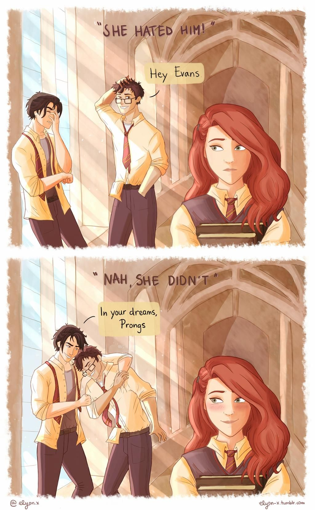 Nah She Didn T By Linndsey On Deviantart Harry Potter Comics Harry Potter Artwork Harry Potter Pictures
