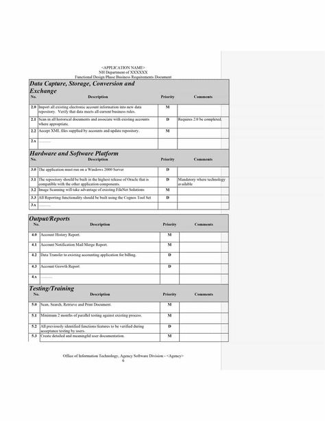 Report Specification Template 7 Templates Example Templates Example Document Templates Business Rules Business Requirements