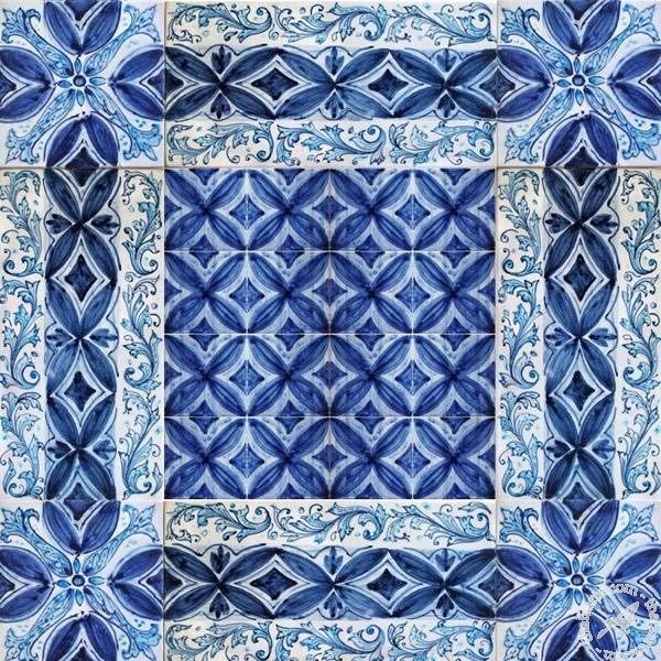 Italian Ceramics Wall Tile Mural, Modular Floor Tile Panel    Part 77