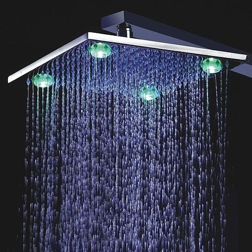 Buy Leonardo Led Light Shower Head With Built In Mixer One Month Speicl Sale Led Shower Head Shower Heads Contemporary Shower