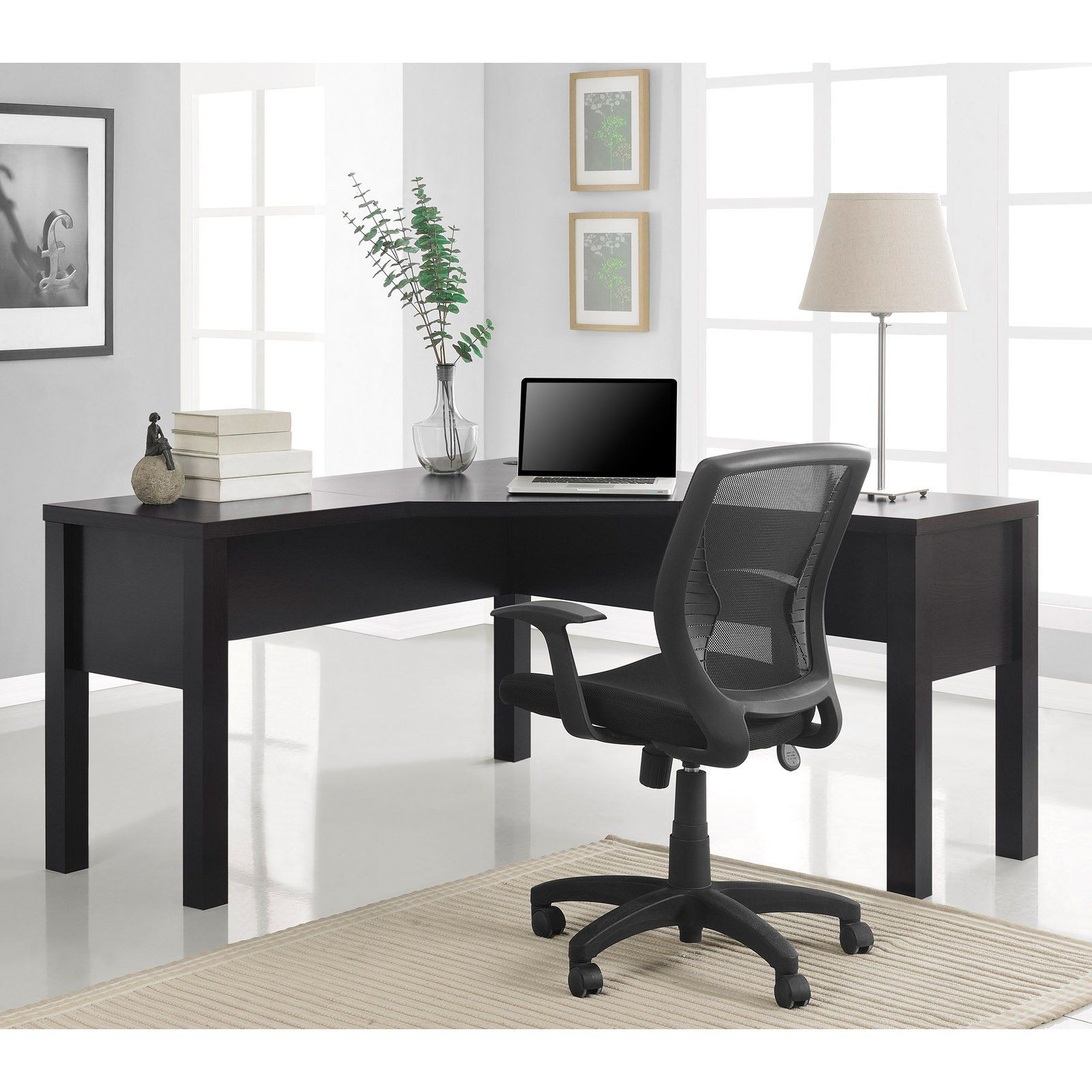 Altra Princeton L Shaped Desk With Optional Hutch Espresso