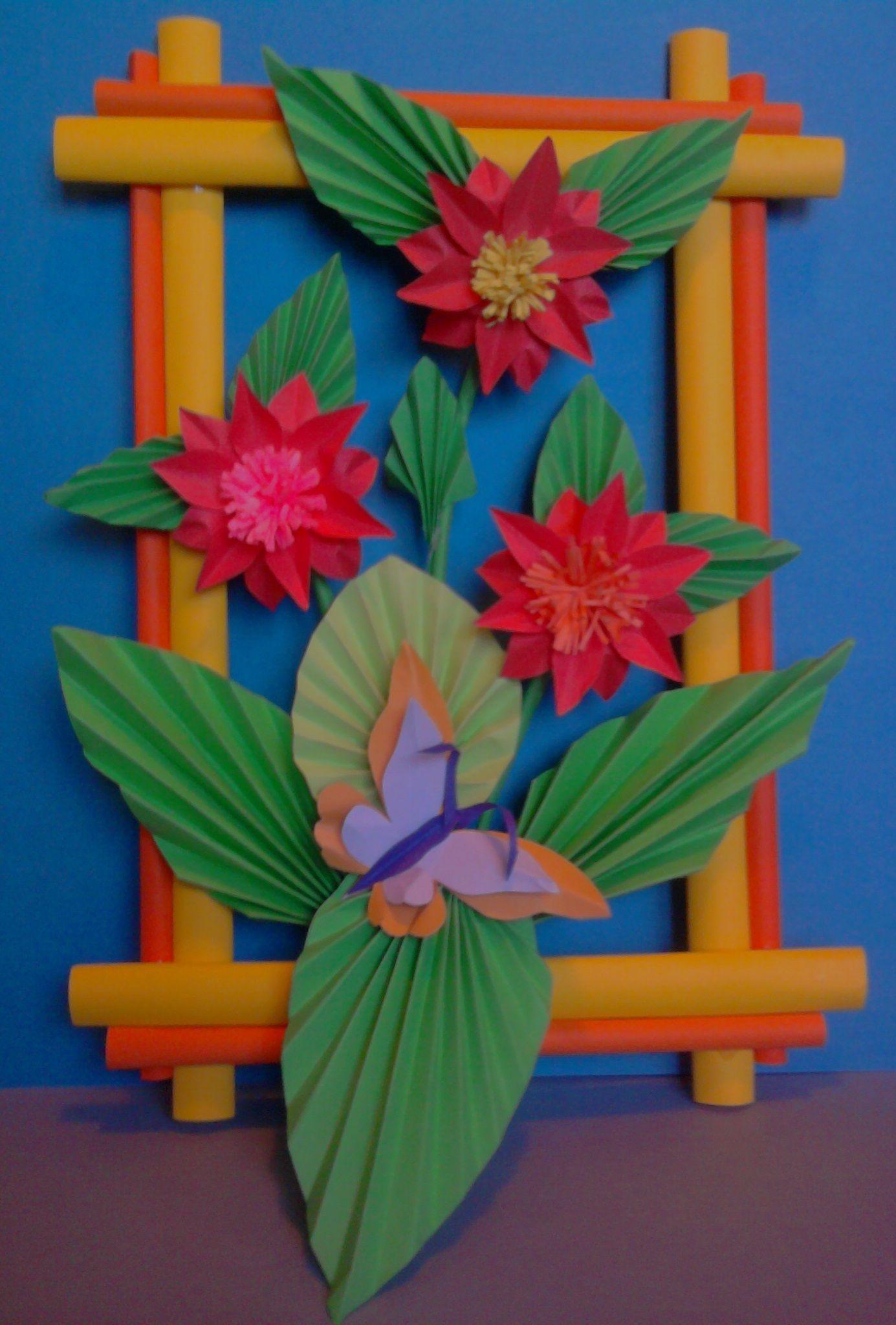 Kwiaty Z Papieru Ikebana Prace Plastyczne Dariusz Zolynski Flowers Paper Paper Flowers Orgiami K Manualidades Manualidades Para Ninos Flores De Papel