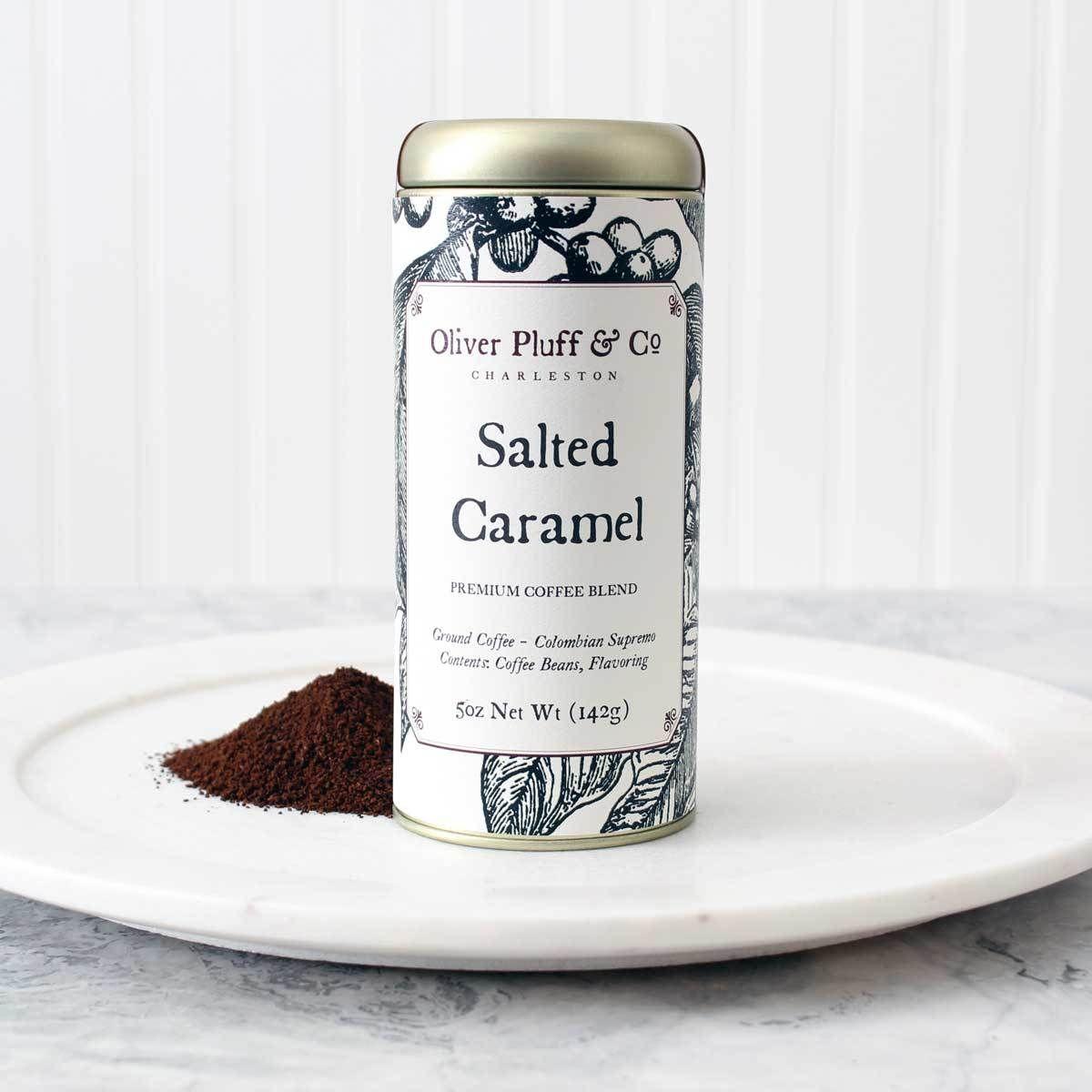 Salted Caramel Ground Coffee- Signature Coffee Tin
