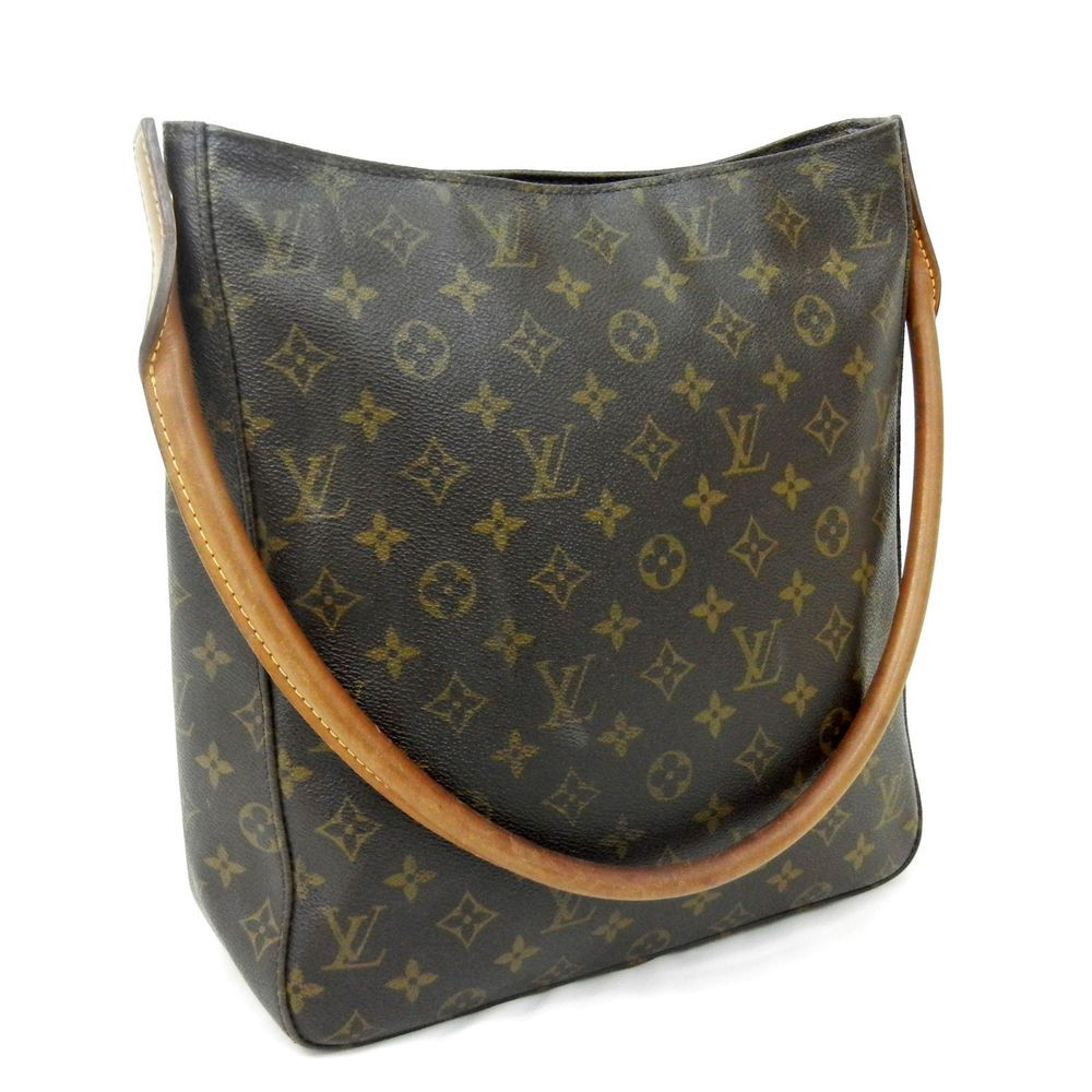 f2afd7484282 Auth LOUIS VUITTON Monogram Looping GM Shoulder Bag Handbag M51145  1300 LV  Mono in Clothing