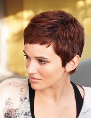 Maybe I Can Convince My Husband To Let Me Dye My Hair Dark Very Short Hair Short Hair Styles Hair Styles