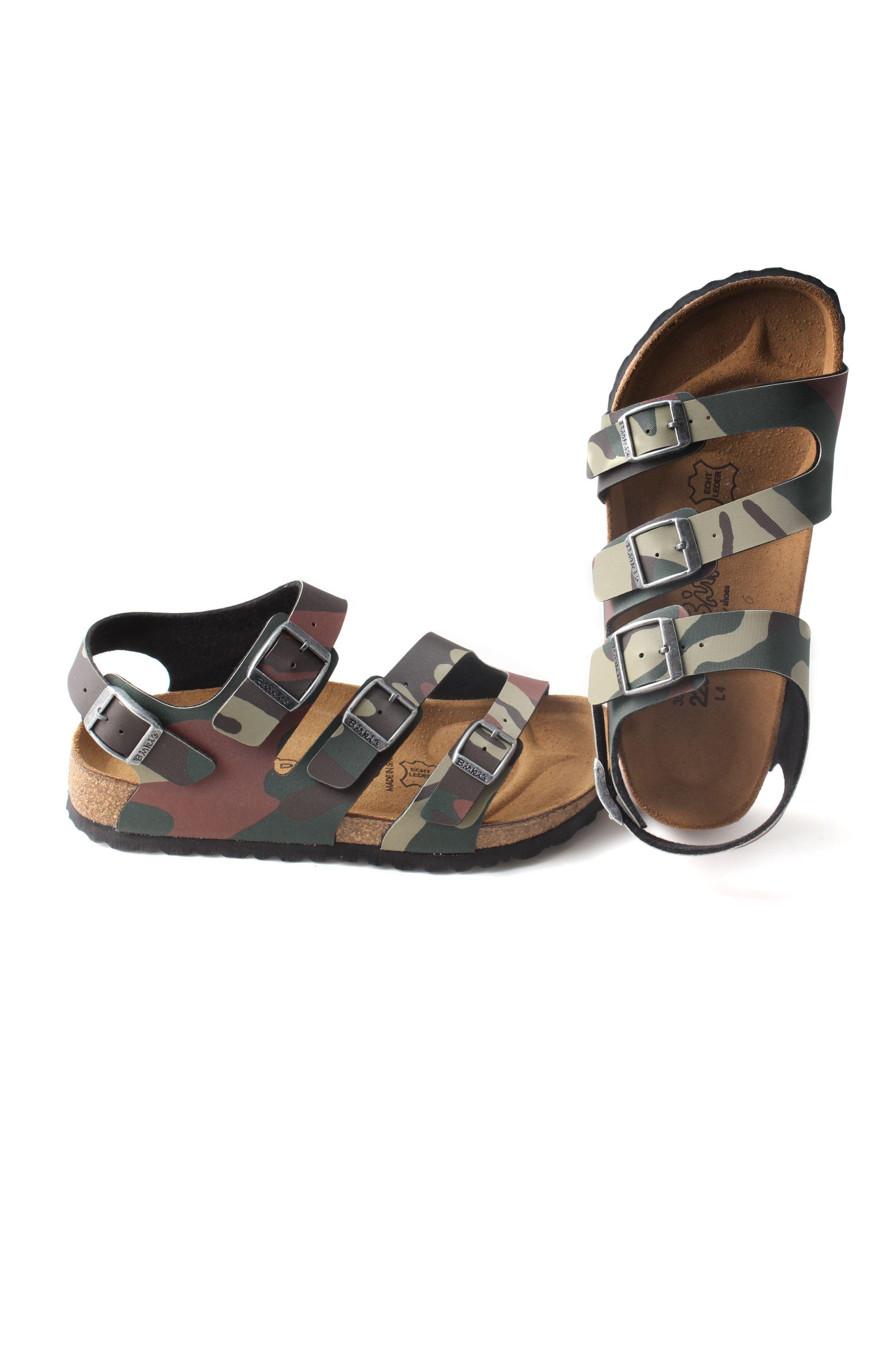 ec8b0bb6d2257 Birkenstock bambino Ellice sandalo Militare 4 fibbie