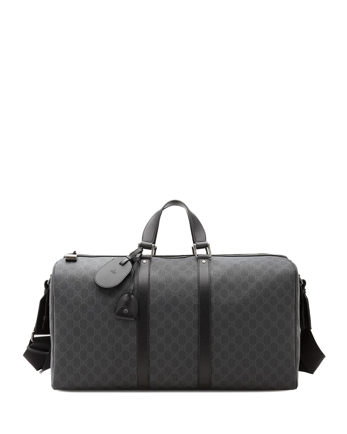 d7a71e970962cf GG Supreme Canvas Large Carry-On Duffel Bag, Black - Gucci ...