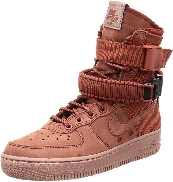 4e7c9f3b1e127 Amazon.com | NIKE Women's SF Air Force 1 Shoe Dusty Peach (11 B(M ...