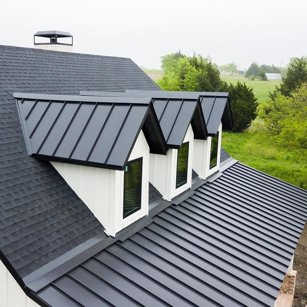 Irongate Roofing Sheet Metal On Instagram Spring Time Is In Full Effect With Another Iron In 2020 Metal Roof Houses Gable Roof Design Residential Metal Roofing