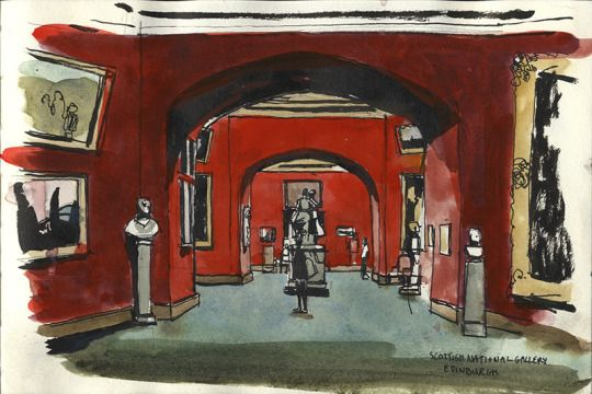 Scottish National Gallery, Edinburgh    -   Wil Freeborn  Scottish,  Watercolour drawings